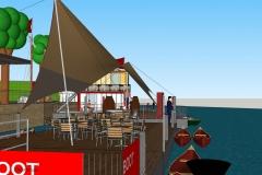 Hamburg, DEU, 10.10.2017: Entwurf fuer das Projekt BOOT an der Bille am Loeschplatz im Osterbrookviertel. Der Loeschplatz ist einer Gruenflaeche am Billebecken, am Ende des Hammer Deichs in Hamm Sued. Auf einer schwimmenden Anlage sollen ein Cafe, ein Biergarten, ein Kanuverleih und ein Platz fuer ein kulturelles Programm entstehen.  #BOOTHamburg #Osterbrooklyn #OBKLYN #OBKLYN17 #einBOOTfuerdieBille #WirHammSüd #Löschplatz #StefanMalzkorn #Malzkorn #Malzkornfoto #Malzkornsrocknroll  ACHTUNG HONORARPFLICHTIG – KEIN VERTRAGSFOTOGRAF  | Hamburg, GER, 10.10.2017: Urban improvement plan BOOT fuer die Billle showing a floating solution for the Loeschplatz in Hamm-Sued, a part of the city of Hamburg. Image taken from a 3D-Model-drawing|  [copyright: Stefan Malzkorn, Steinbeker Strasse 14, 20537 H a m b u r g, Tel.: +49-40-345402; www.malzkornfoto.de  malzkorn@malzkornfoto.de , Kontoverbindung bitte beim Fotografen erfragen - Banking Link: please get in touch with us for our banking details. www.freelens.com/clearing, Steuer-Nr: 42/152/01106 Finanzamt Hamburg am Tierpark, KSK-Nr. 39040963M007. Verwendung nur gegen Namensnennung, Honorar und Beleg - Presseveroeffentlichungen in DEU zzgl. 7% Mwst auf grundlage der MFM; bei Verwendung des Fotos ausserhalb journalistischer Zwecke bitte Ruecksprache mit dem Fotografen halten. Soweit nicht ausdruecklich vermerkt werden keine Modellfreigabe-, Eigentums-, Kunst- oder Markenrechte eingeraeumt. Die Nutzungen erfolgt ausschliesslich auf Grundlage meiner unter  www.malzkornfoto.de/webseite_neu/agbs/agb_dt.pdf einsehbaren Allgemeinen Geschaftsbedingungen (AGB)  publication only with royalty payment, credit line, and print sample. Unless especially stated: no model release, property release or other third party rigths available. No distribution without our written permission.] [#0,26,121#]