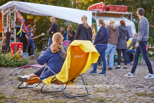 10.08.2019:  Kulturcafe BOOTsWagen, Rasenkonzert Rockband Hector. ©malzkornfoto #BOOTsWagen #listentohector